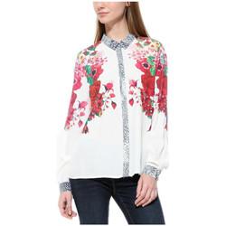 Vêtements Femme Tops / Blouses Desigual Chemise Femme Berna Crudo Beige 17WWCW63 1