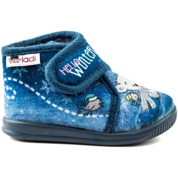 Chaussures Fille Chaussons Vulladi PEK HELLO BLUE