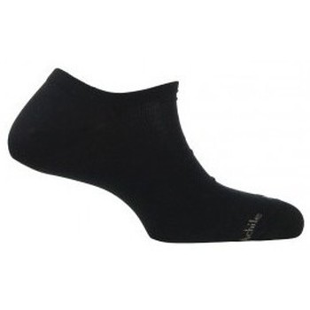 Accessoires Homme Chaussettes Achile Chaussettes invisibles unies en coton Noir