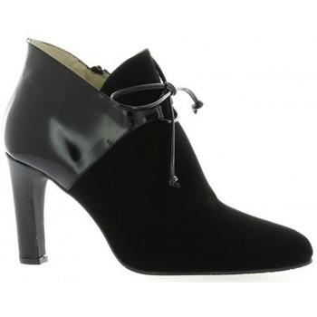 Chaussures Femme Boots Brenda Zaro Boots cuir velours Noir