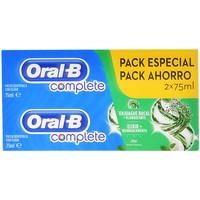 Beauté Accessoires visages Oral-B Complete Dentifrico Enjuage + Blanqueante Coffret  2 x 75