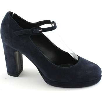 Chaussures Femme Escarpins Divine Follie DIVINE FOLIE 900 chaussures bleues dcollet trapu sangle de talon Blu