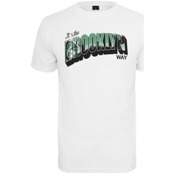 Vêtements Homme T-shirts manches courtes Mister Tee T-shirt  Brooklyn Way Blanc Blanc