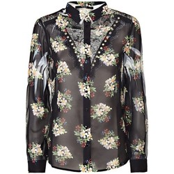 Vêtements Femme Chemises / Chemisiers Guess Chemisier Clouis Romantic Bouquet Noir
