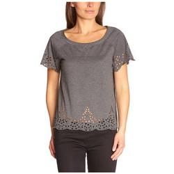 Vêtements Femme Tops / Blouses Vero Moda Véro Moda T-Shirt joy patila gris 10091900 (sp)
