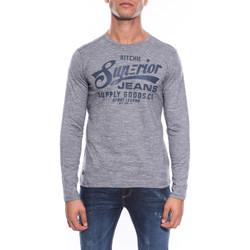 Vêtements Homme T-shirts manches longues Ritchie T-SHIRT JOELLY Bleu