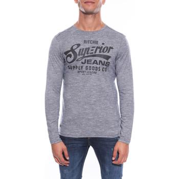Vêtements Homme T-shirts manches longues Ritchie T-SHIRT JOELLY Noir