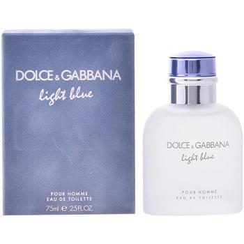Beauté Homme Eau de toilette D&G Light Blue Pour Homme Edt Vaporisateur  75 ml