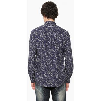 Vêtements Homme Chemises manches longues Desigual Chemise David Bleu Peacoat 17WMCW75 19