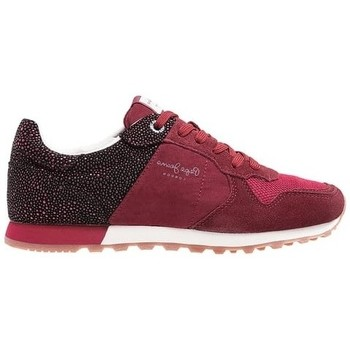 Chaussures Femme Baskets mode Pepe jeans Baskets Verona W Flash bordeaux rouge