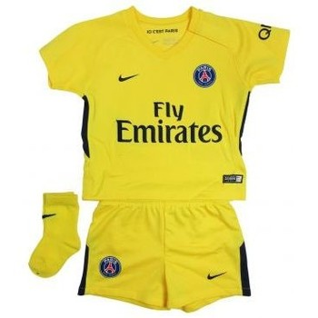 Vêtements Garçon Ensembles enfant Nike 2017/18 PARIS SAINT-GERMAIN SURVETEMENT JAUNE BEBE jaune