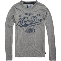 Vêtements Homme T-shirts manches longues Superdry T-shirt  Grade A Tee Dark Marl / Navy Gris