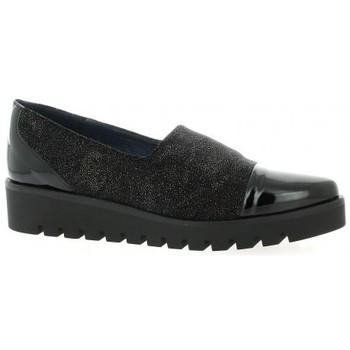 Chaussures Femme Mocassins Humat Mocassins toile laminé Noir
