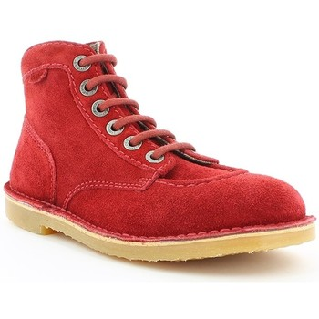 Chaussures Femme Boots Kickers ORILEGEND Rouge