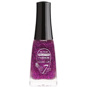 Beauté Femme Vernis à ongles Fashion Make Up Fashion Make Up - Vernis à ongles Paillettes N °204 Violet - 11m Violet