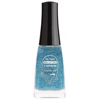 Beauté Femme Vernis à ongles Fashion Make Up Fashion Make Up - Vernis à ongles Paillettes N°206 Bleu - 11ml Bleu