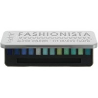 Beauté Femme Palettes maquillage yeux Technic - Palette de 12 ombres à paupières - Couleurs pailletées Bleu