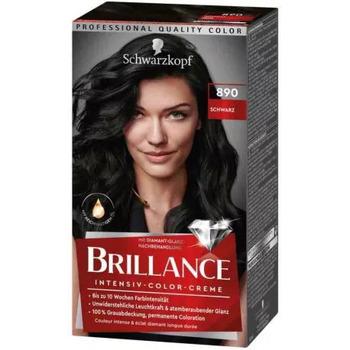 Beauté Femme Accessoires cheveux Schwarzkopf - Coloration Brillance 890 Noir Noir