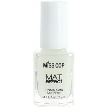 Beauté Femme Vernis à ongles Miss Cop - Top coat Matifiant - 12ml Blanc
