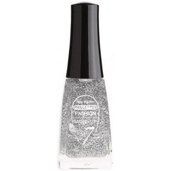 Beauté Femme Vernis à ongles Fashion Make Up Fashion Make Up - Vernis à ongles Paillettes N °201 Argent - 11m Autres
