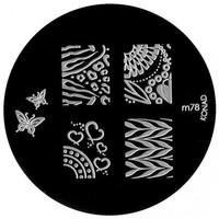 Beauté Femme Accessoires ongles Konad - Plaques de stamping Nail Art M78 Autres