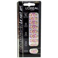Beauté Femme Accessoires ongles L'oréal - Color riche Le Nail Art - Stickers pour Ongles 029 Confetti Autres