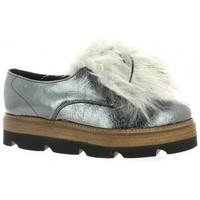 Chaussures Femme Derbies Mitica Derby cuir vernis Acier