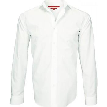 Vêtements Homme Chemises manches longues Andrew Mc Allister chemise double fil 120/2 luxury blanc Blanc