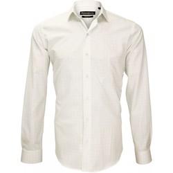 Vêtements Homme Chemises manches longues Emporio Balzani chemise popeline armuree tiberio beige Beige