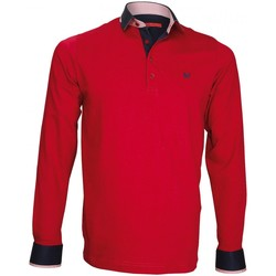 Vêtements Homme Polos manches longues Andrew Mac Allister polo sweat en jersey percy bordeaux Bordeaux
