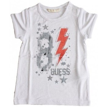 Vêtements Fille T-shirts manches courtes Guess T-Shirt  Blanc (sp) Blanc