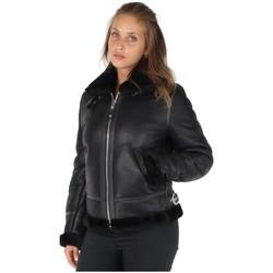 Vêtements Femme Vestes en cuir / synthétiques Schott Blouson  en cuir ref_jaj25781-noir Noir