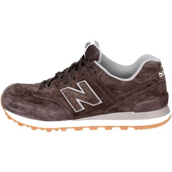 Chaussures Homme Baskets basses New Balance ML574FSB Petite Sneakers Homme Marron Marron