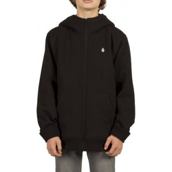 Vêtements Garçon Sweats Volcom Sweat  Sngl Stn Lined Zip - Black Noir