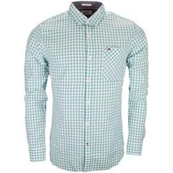 Vêtements Homme Chemises manches longues Tommy Hilfiger Chemise Tommy Hilfiger Dénim vichy blanc et vert pour homme Vert
