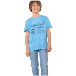 Vêtements Garçon T-shirts manches courtes Kaporal Tee Shirt  Dig Bleu Ciel (sp) Bleu
