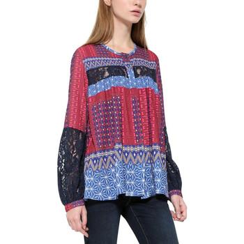 Vêtements Femme Tops / Blouses Desigual T Shirt Tunique Mona Fucsia Luxor Bordeaux 17WWCW83 Rouge