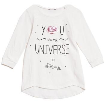 Vêtements Fille T-shirts manches longues Guess T-Shirt Fille Manches 3/4 Blanc Blanc