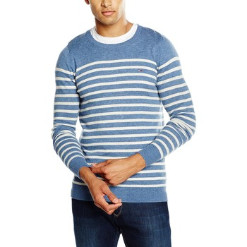 Vêtements Homme Pulls Tommy Hilfiger DM0DM00993 Bleu / Blanc
