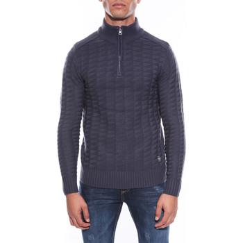 Vêtements Homme Pulls Ritchie PULL COL MONTANT LAKDAR Bleu