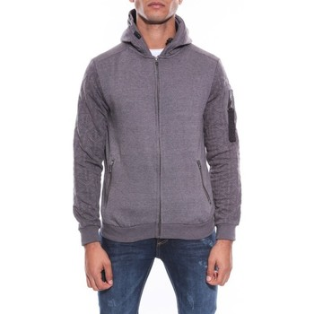 Vêtements Homme Sweats Ritchie SWEAT ZIPPE CAPUCHE WARRIK Gris