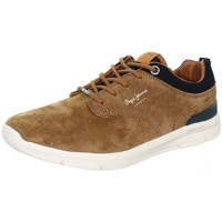 Chaussures Homme Baskets basses Pepe jeans Baskets Jayden  ref_pepe41741 tabac Marron