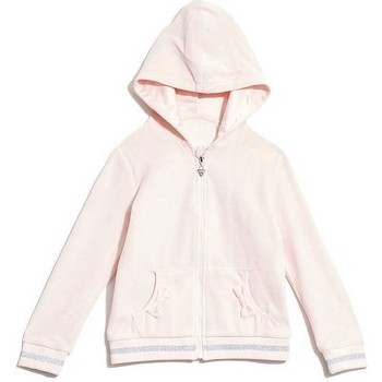 Vêtements Fille Sweats Guess Sweat zippé à capuche Fille Rose Rose