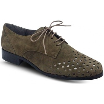 Chaussures Femme Derbies Folies Derby Plat Taupe Marron