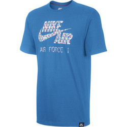 Vêtements Homme T-shirts manches courtes Nike Air Force 1 Classic Futura Photo Blue