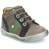 Chaussures Garçon Boots GBB REGIS NUV GRIS-NOIR DPF/MESSI