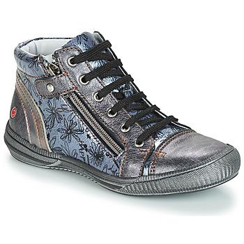 Chaussures Fille Boots GBB RACHIDA Gris / Bleu