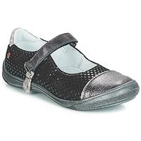 Chaussures Fille Ballerines / babies GBB RIKA Noir / Argenté