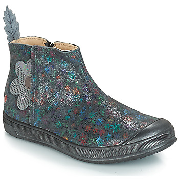 Chaussures Fille Boots GBB ROMANE Gris