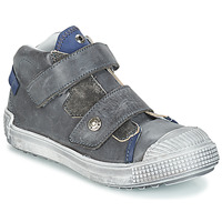 Chaussures Garçon Baskets montantes GBB ROMULUS Gris / Bleu